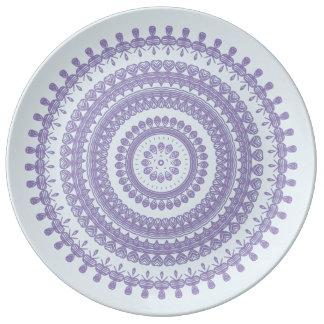 Plato De Porcelana Duendecillo gitano del hippy del círculo de la