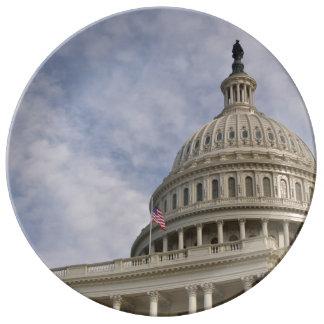 Plato De Porcelana Edificio de Capitol Hill en Washington DC