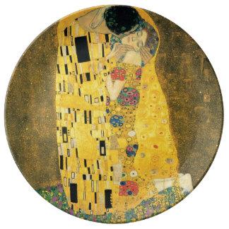 Plato De Porcelana El beso de Gustavo Klimt