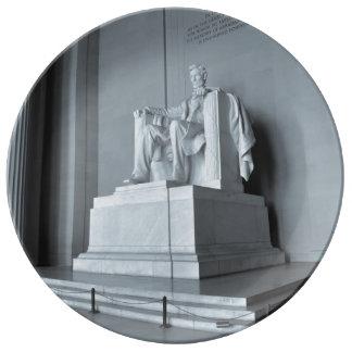Plato De Porcelana El Lincoln memorial en Washington DC