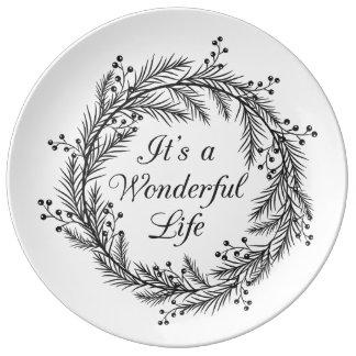 Plato De Porcelana Es una vida maravillosa - placa decorativa del