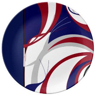 Plato De Porcelana Fanático del fútbol inspirado