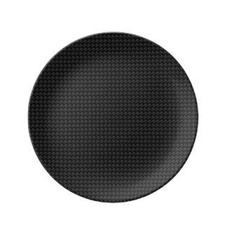 Plato De Porcelana Fibra de carbono
