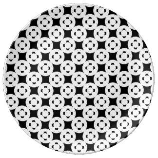 Plato De Porcelana Gamepad negativo de Kenneth Yoncich