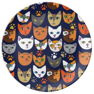 Plato De Porcelana Gatos Caturday diario del gatito
