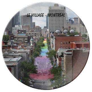 Plato De Porcelana gay, pride, orgullo, pueblo gay, Montreal