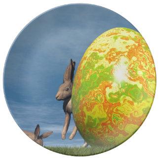 Plato De Porcelana Huevo de Pascua - 3D rinden