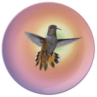 PLATO DE PORCELANA HUMMIMNGBIRD