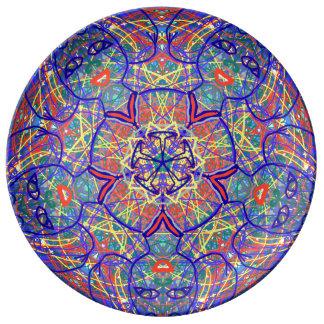 """Plato De Porcelana La porcelana sagrada de """"Chavela"""" de la geometría"""