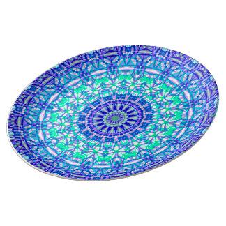 Plato De Porcelana Mandala tribal G389 de la placa de la porcelana