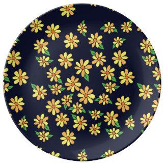 Plato De Porcelana margarita floral