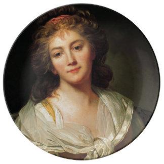 Plato De Porcelana Marie-Geneviève Bouliard, autorretrato