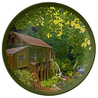Plato De Porcelana Molino del grano para moler de Cedar Creek