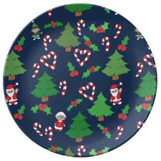 Plato De Porcelana navidad festivo
