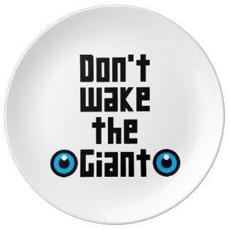 Plato De Porcelana No despierte el gigante