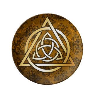 Plato De Porcelana Ofrecimiento ritual de la brujería medieval de