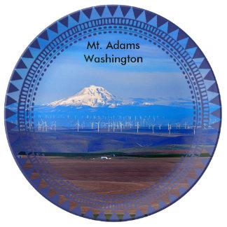 Plato De Porcelana Oregon Windfarms y Mt. Adams, Washington