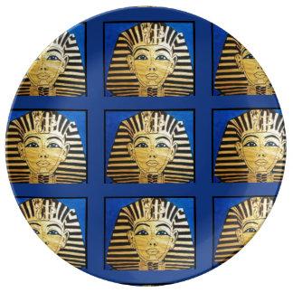 """Plato De Porcelana """"Paseo como placas de la porcelana de un egipcio"""""""