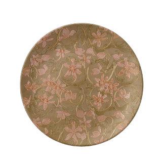 Plato De Porcelana Pensamientos florales (más opciones) -