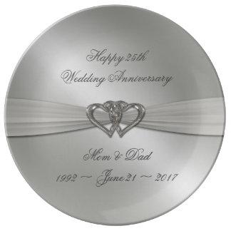 Plato De Porcelana Placa clásica de la porcelana del aniversario de