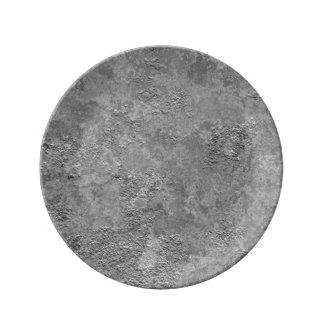 Plato De Porcelana Placa cruda gris de la Mofa-Textura del