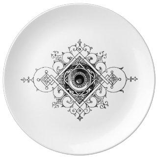 Plato De Porcelana Placa de la marca de impresora