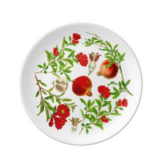 Plato De Porcelana Placa de la porcelana de la granada (usted puede