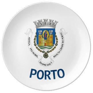 Plato De Porcelana Placa de la porcelana de los colectores del escudo