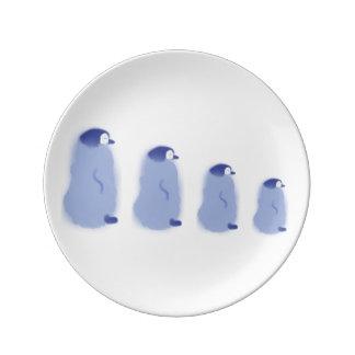 Plato De Porcelana Placa de la porcelana del pingüino