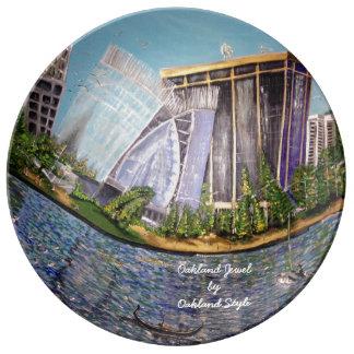 Plato De Porcelana Placa decorativa de la porcelana de la joya de