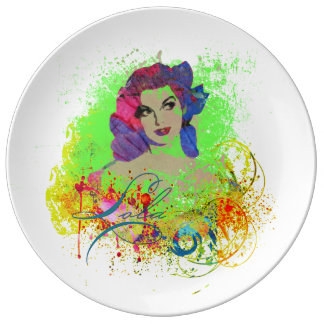 Plato De Porcelana Placa decorativa de la porcelana de Lola