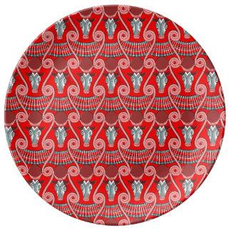 Plato De Porcelana Placa decorativa de la porcelana de Minotaur