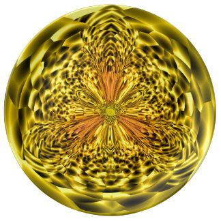 Plato De Porcelana Placa decorativa de la porcelana del arte del