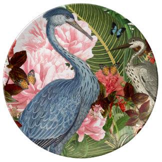 Plato De Porcelana Placa decorativa de la porcelana del collage de