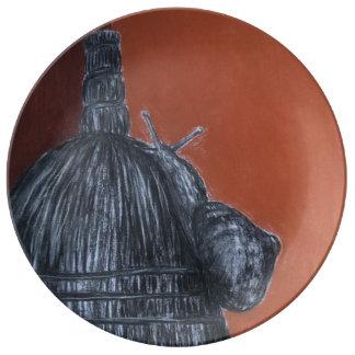 Plato De Porcelana Placa érase una vez decorativa de la porcelana