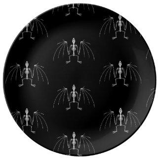 Plato De Porcelana Placa esquelética coa alas