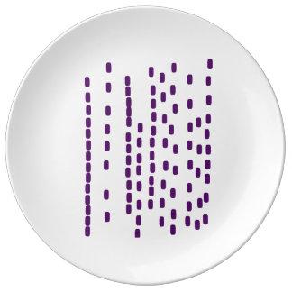 Plato De Porcelana Placa grande púrpura de la DNA