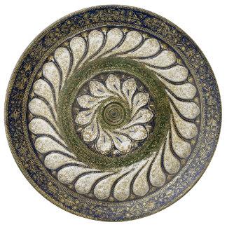 Plato De Porcelana Placa marroquí de la porcelana del diseño del