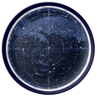 Plato De Porcelana Placa septentrional de las constelaciones