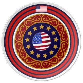 Plato De Porcelana Placas con clase de la porcelana de los E.E.U.U.