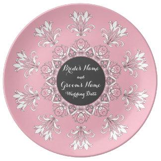 Plato De Porcelana Recuerdo de la placa del boda
