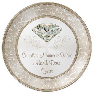 Plato De Porcelana Regalos de boda personalizados magníficos de
