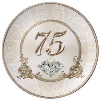 Plato De Porcelana Regalos magníficos para la mujer de 75 años, placa