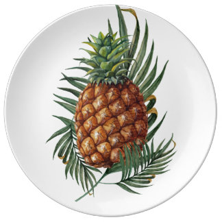 Plato De Porcelana Rey Pineapple