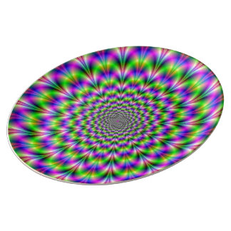 Plato De Porcelana Servicio de mesa del holograma