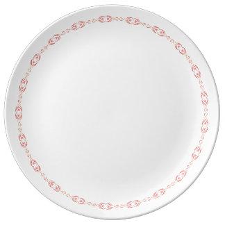 Plato De Porcelana Sistema del servicio de mesa de la tarjeta del día