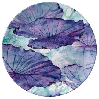 Plato De Porcelana Surrealismo botánico