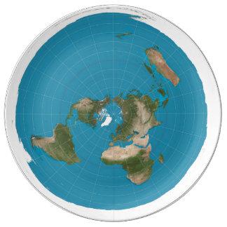 Plato De Porcelana tierra plana