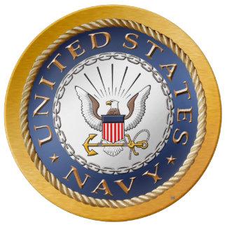 Plato De Porcelana U.S. Placa de la porcelana de la marina de guerra