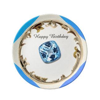 Plato De Porcelana Un cumpleaños del Topaz